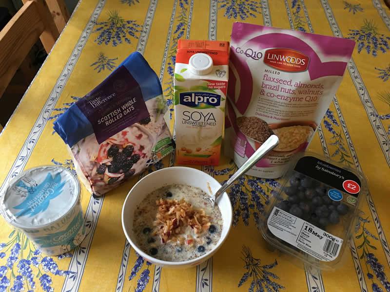 bircher muesli eaten by vegan vet