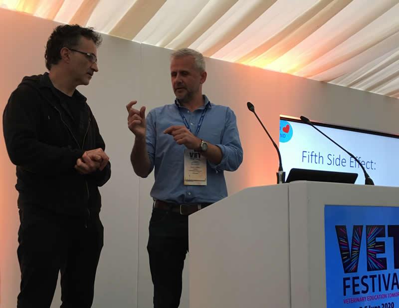 Noel Fitzpatrick and David Hamilton at Vetfest