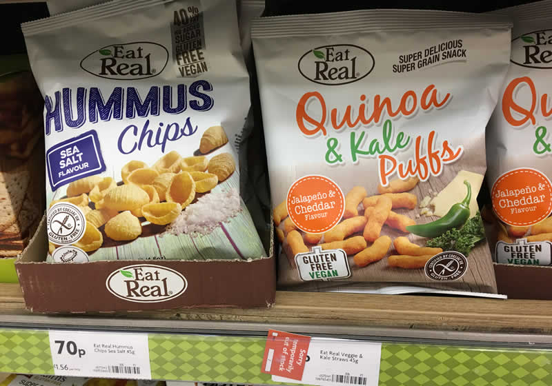 Quinoa 'cheese' puffs from Morrisons