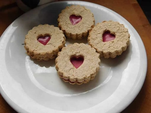 Jammie dodger biscuits