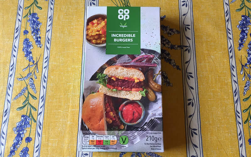 Co-op incredible vegan burgers