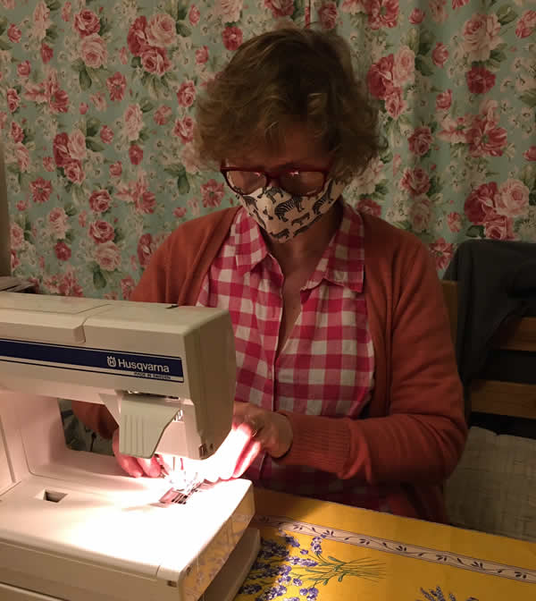 Vegan vet stitching facemasks for vet staff