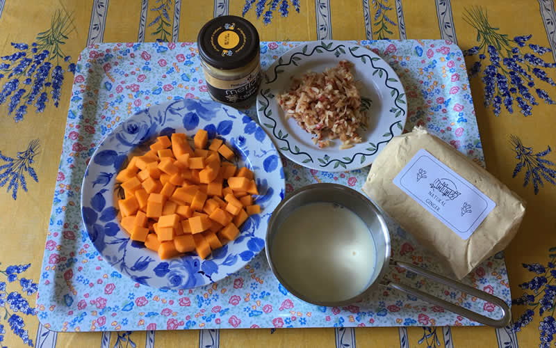 Butternut sausage ingredients made with high fibre nutritious ingredients for dogs switching to a plant-based diet or dogs with anal gland concerns