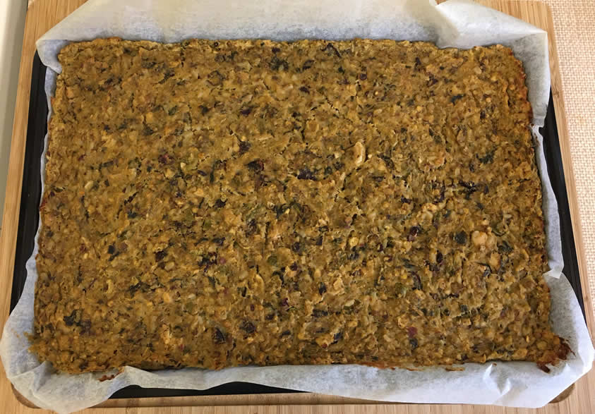 Bake on a lined tray in a preheated oven at 180C for 45 minutes