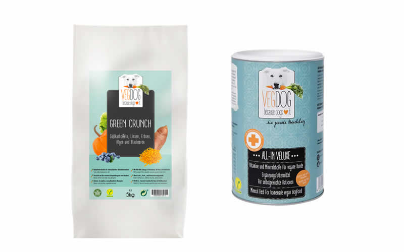 2kgs Green Crunch and 500g All-In-Veluxe Supplement