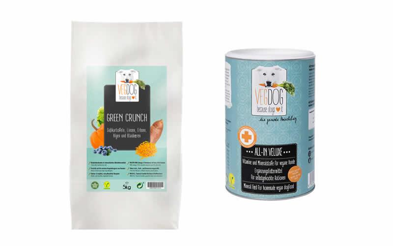7kgs Green Crunch and 500g All-In-Veluxe VEGDOG supplement