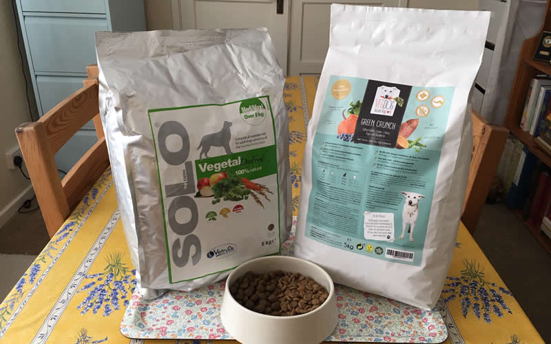 BEST OF BOTH VEGAN DOG FOODS solovegetal AND green crunch