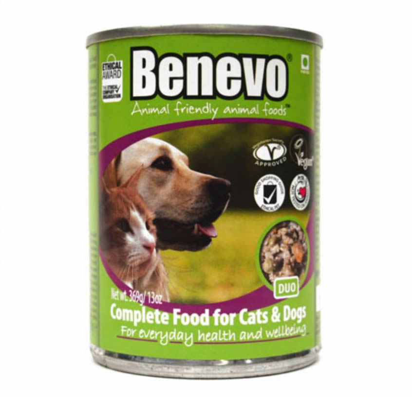 benevo cat and dog tins