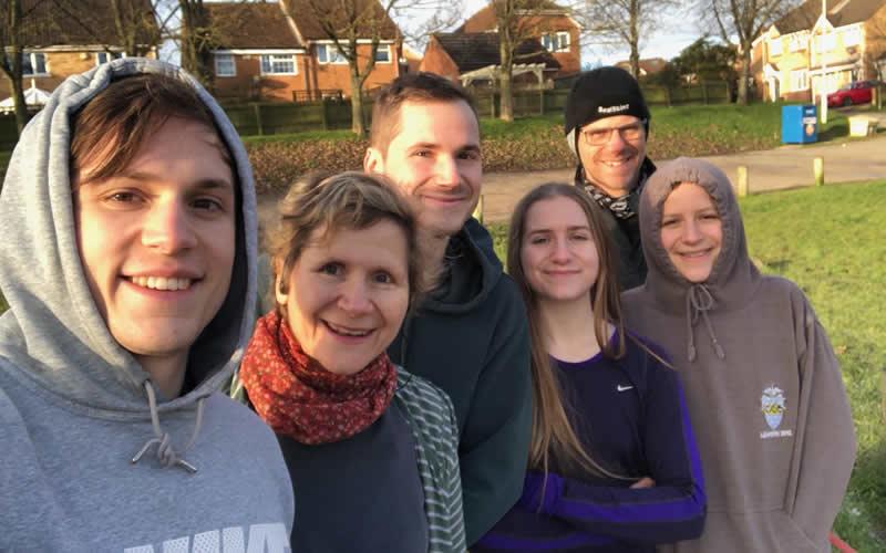 Vegan vet Arielle and family December 2020