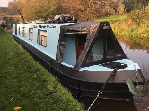 Tipsy Badger – Ecoconscious Art Made On Boat In Cheshire