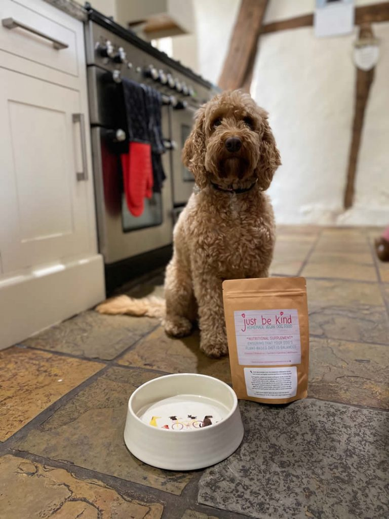 JUST BE KINF supplement with Cockapoo