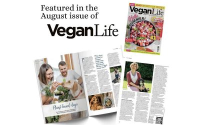 We feature in the August Issue of Vegan Life