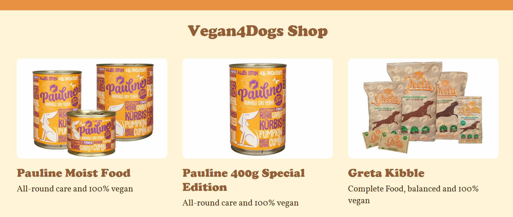 Vegan4Dogs shop